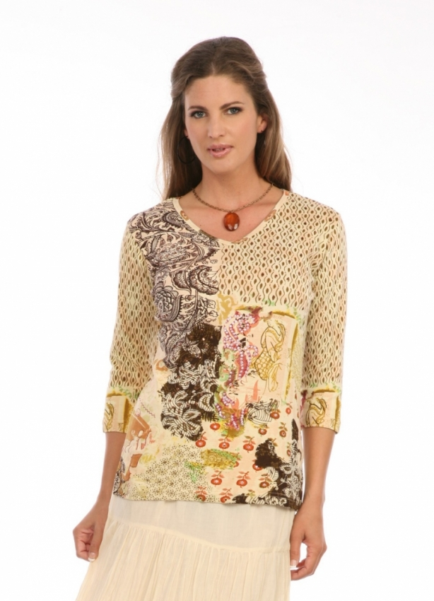 Paisley Patch In Brown