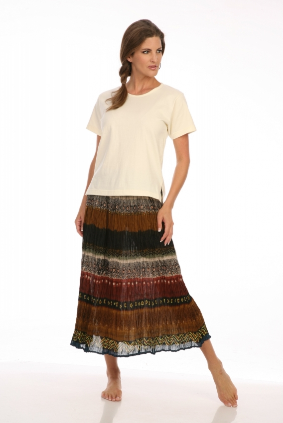 Navajo Skirt in Green