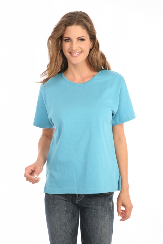 Short Sleeve Tee in Light Turquoise