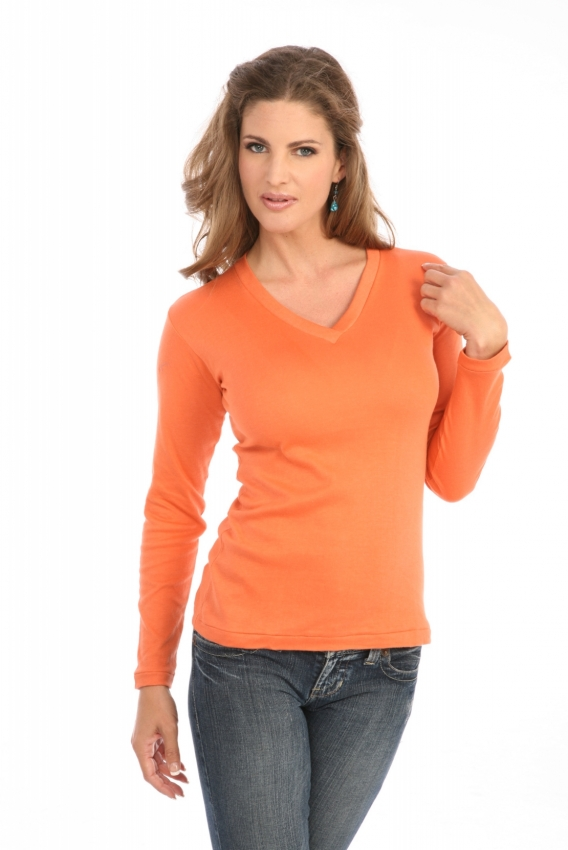Cross-Over V-Neck in Orange