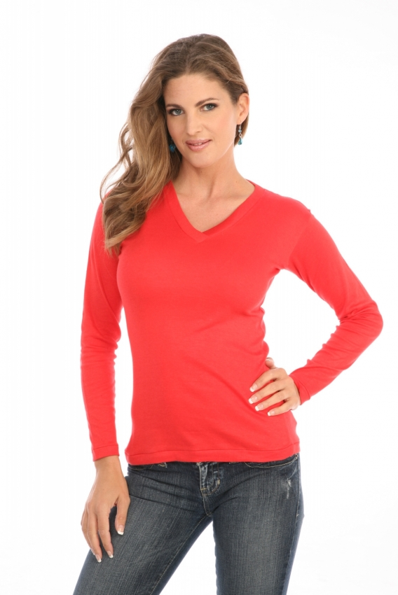 Cross-Over V-Neck in Red