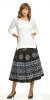 Flowers and Diamonds Circle Skirt