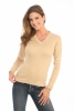 Cross-Over V-Neck in Taupe